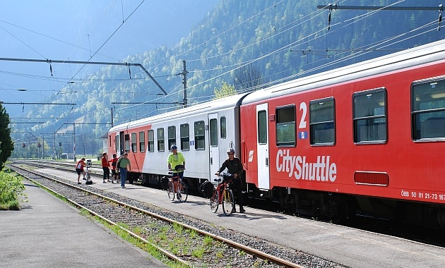 cycle and train austria